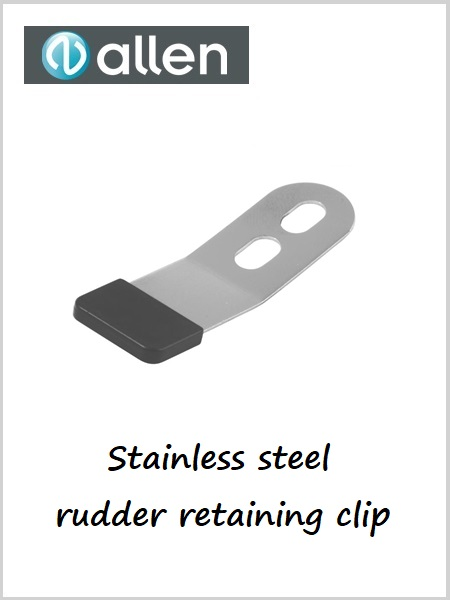 Stainless steel rudder retaining clip with end cap AL1923